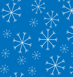 Snow pattern background vector image vector image