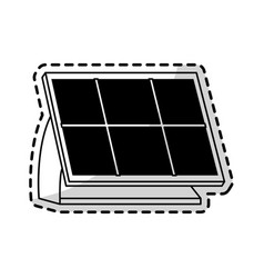 solar panel icon image vector image