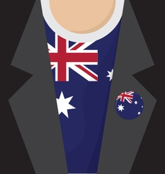 T-Shirt With Australia Flag vector image