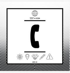 Telephone handset telephone receiver symbol icon vector