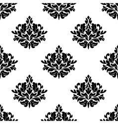 Victorian styled foliate seamless pattern vector
