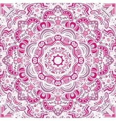 Vintage pink mandala background vector