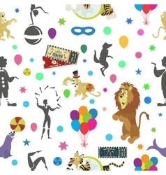 Wonderful seamless pattern of circus and vector image