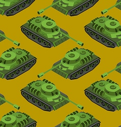 Tank isometric seamless pattern army machinery vector