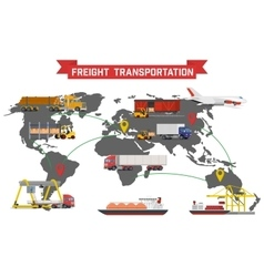 Freight transport and packaging infographics vector