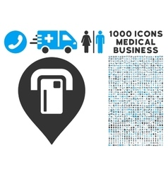 Atm map pointer icon with 1000 medical business vector