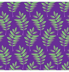 Seamless pattern with autumn rowan foliage vector