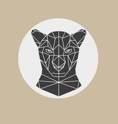 Black panther head geometric vector