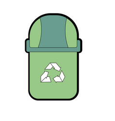 Recycle can to protection the ecology of the vector