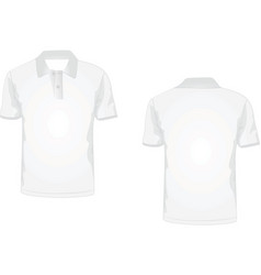 White polo t-shirt vector