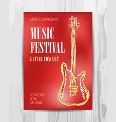 Club music concert poster vector
