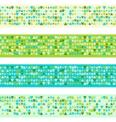Colorful patterned borders vector