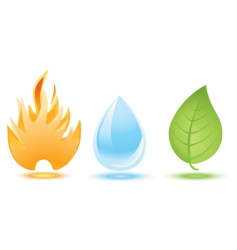 Fire water leaf vector