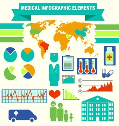 Medical elements set for flat design vector