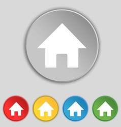 Home main page icon sign symbol on five flat vector