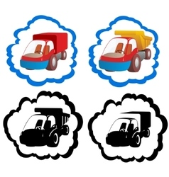 Icons trucks vector