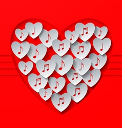 Love music concept design vector