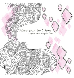 abstract handdrawn doodle background vector image