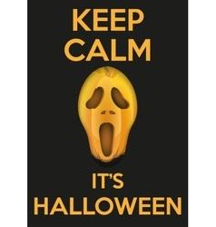 Background keep calm with pumpkins fear face vector