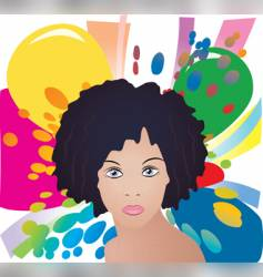 Afro lady vector