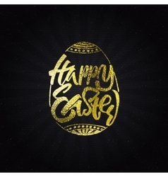 Happy easter - typographic calligraphic lettering vector