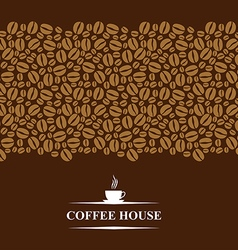 cofee horizontal brown vector image