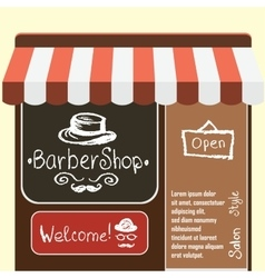 Flat modern barber shop vector