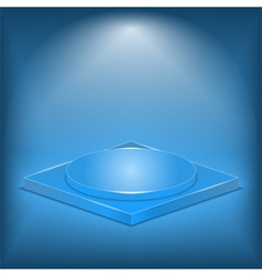 Blue stage vector