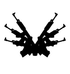 Automatic gun background element vector