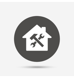 Service house repair tool icon service symbol vector