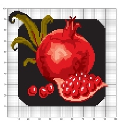 Embroidered with pomegranate vector