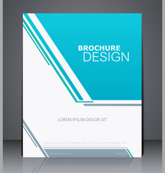 Abstract business brochure flyer vector