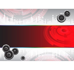 Abstract Hi tech music background vector image vector image