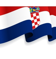 Background with waving croatian flag vector