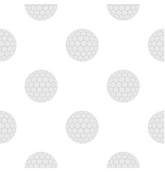 ball for playing golf pattern flat vector image