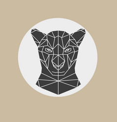 black panther head geometric vector image vector image