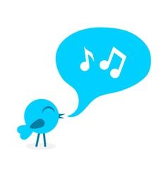 Blue bird with speech bubble vector image
