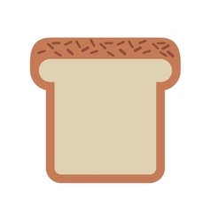 bread loaf isolated icon design vector image