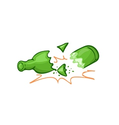 Broken bottle vector