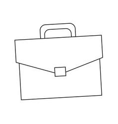 Business briefcase portfolio document accessory vector