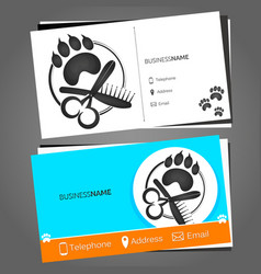 Business card for a hairdresser for pets vector