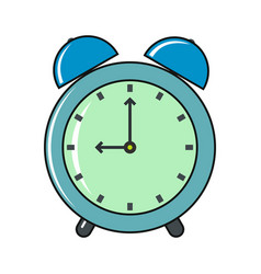 clock cartoon icon isolated on a white background vector image vector image
