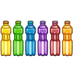 Color bottles vector image