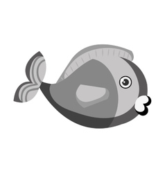 cute colors fish pet vector image