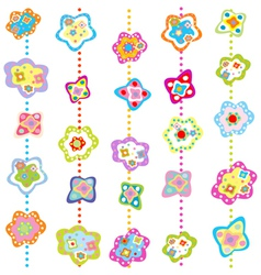 delicate flowers vector image vector image