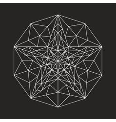 Geometric low poly line star vector