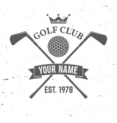 Golf club concept with golf ball silhouette vector image
