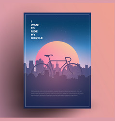 i want to ride my bicycle vector image vector image