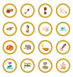 India icon circle vector
