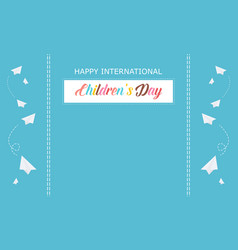 International childrens day blue background vector